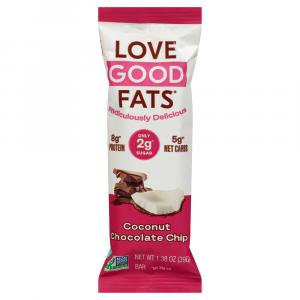 Love Good Fats Snack Bar Coconut Chocolate Chip
