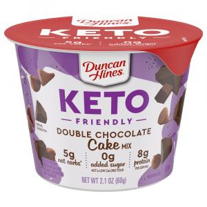 Duncan Hines Keto Double Chocolate Cake Cup