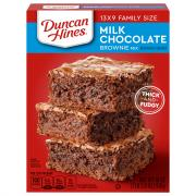 Duncan Hines Milk Chocolate Family Size Brownie Mix