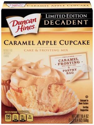 Duncan Hines Decadent Caramel Apple Cupcake