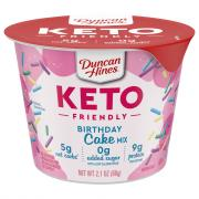 Duncan Hines Keto Birthday Cake Cup