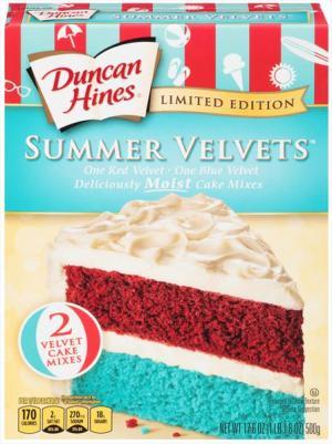 Duncan Hines Limited Edition Summer Velvet Cake Mix