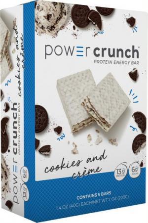 Power Crunch Original Protein Energy Bar Cookies & Cream