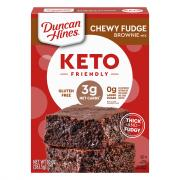 Duncan Hines Keto Gluten Free Chewy Fudge Brownie