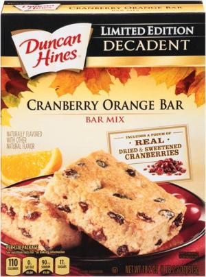 Duncan Hines Cranberry Orange Bar Mix