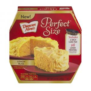 Duncan Hines Perfect Size Lemon Bliss Cake & Frosting Mix
