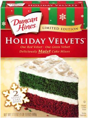 Duncan Hines Decadent Holiday Velvet Cake Mix