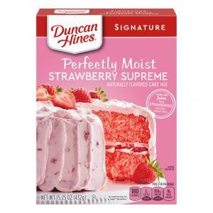 Duncan Hines Strawberry Supreme Cake Mix