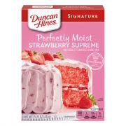 Duncan Hines Strawberry Supreme Cake Mix