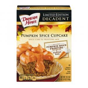 Duncan Hines Decadent Pumpkin Spice Cupcake