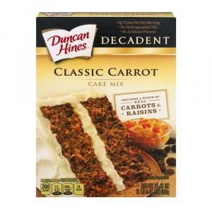 Duncan Hines Decadent Carrot Cake Mix