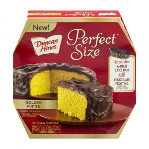 Duncan Hines Perfect Size Golden Fudge Cake & Frosting Mix
