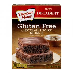Duncan Hines Gluten Free Chocolate Lovers Brownie Mix