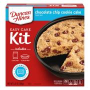Duncan Hines Perfect Size Chocolate Chip Cookie Cake Mix