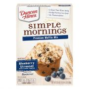 Duncan Hines 100% Whole Grain Blueberry Streusel Mix