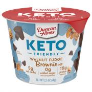 Duncan Hines Keto Walnut Brownie Cup