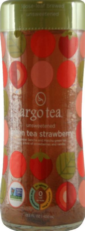 Argo Tea Unsweetened Green Tea Strawberry