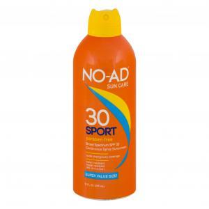 No-Ad Sport Clear Continuous Spray SPF 30 Sunblock