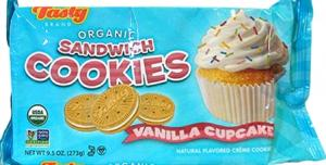 Tasty Brand Organic Vanilla Cupcake Sandwich Cookies