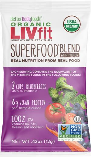 Better Body Foods Organic Liv Fit Superfood Single Packet