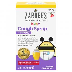 Zarbee's Naturals Baby Cough Syrup + Immune Cherry