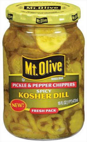 Mt. Olive Spicy Kosher Dill Pickle & Pepper Chippers