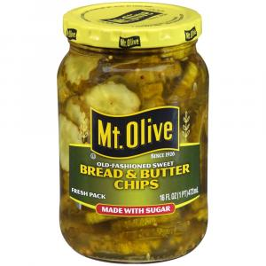 Mt. Olive Bread & Butter Chips Made With Sugar