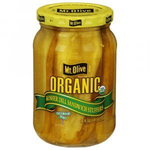 Mt. Olive Organic Kosher Dill Sandwich Stuffers