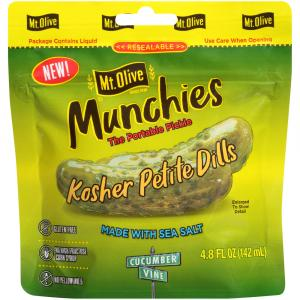 Mt. Olive Munchies Kosher Petite Dills Pouch