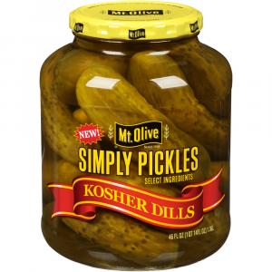 Mt. Olive Kosher Dill Pickles with Sea Salt