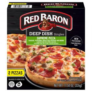 Red Baron Deep Dish Singles Supreme Pizza