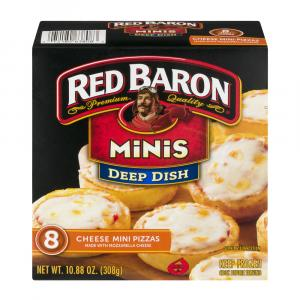 Red Baron Deep Dish Minis Cheese Pizzas