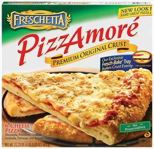 """Pizzamore' 13"""" Six Cheese Pizza"""