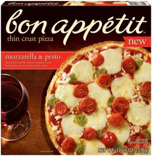 Bon Appetit Mozzarella & Pesto Thin Crust Pizza