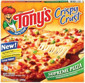 Tony's Crispy Crust Supreme Pizza