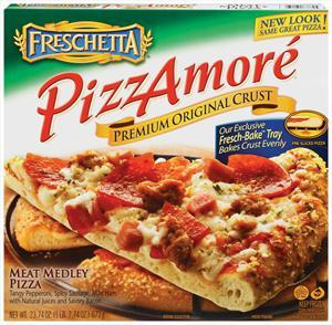 """Pizzamore' 13"""" Meat Medley Pizza"""