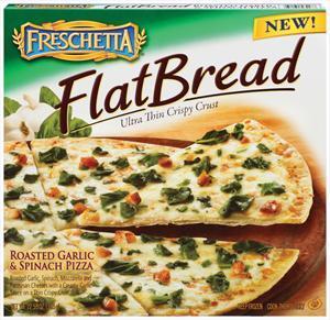 Freschetta Flat Bread Roasted Garlic & Spinach Pizza