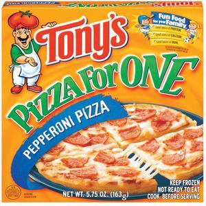 Tony's Pepperoni Microwaveable Pizza For One