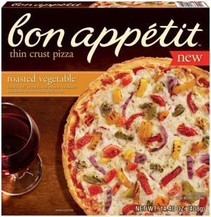 Bon Appetit Roasted Vegetable Thin Crust Pizza