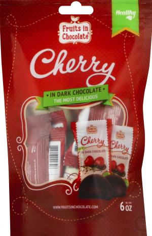 Fruits In Choc Dark Choc Covered Cherries Individually Wrap