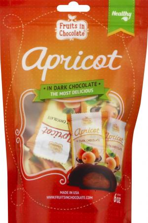 Fruits In Choc Dark Choc Covered Apricots Individually Wrap
