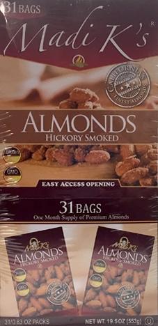 Madi K Hickory Smoked Almonds 31 Day Box