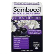 Sambucol Black Elderberry Cold and Flu Relief Tablets