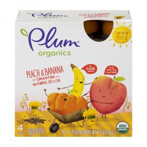 Plum Organics Peach & Banana Smoothie - Pumpkin, Oats & Chia
