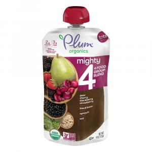 Plum Organics Mighty4 Spinach, Cherry, Oat, Black Bean Blend