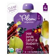 Plum Organics Blueberry, Pear & Purple Carrot Baby Food