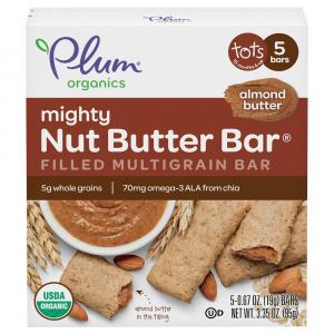 Plum Organics Mighty Nut Butter Bar Almond Butter