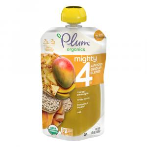 Plum Organics Mighty 4 Mango, Pineapple, White Bean,