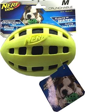 Nerf Medium Football Dog Toy