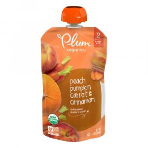 Plum Organics 2 Eat Your Colors Orange - Peach, Pumpkin